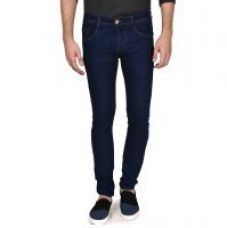 Routeen Men's Slim Fit Dark Blue Cotton Jeans Pants for Rs. 299