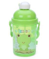Flat 29% off on Sipper Bottle With Push Button Lid Froggy Print - Green