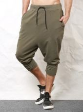 SKULT Olive Green Drop Crotch Joggers for Rs. 1,499