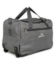 Flat 45% off on Pronto Grey Solid Duffle Bag
