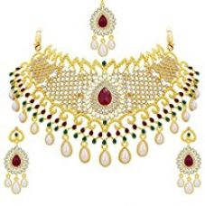 Sukkhi Jewellery Set for Women (Golden) (3135NADS1600) for Rs. 486