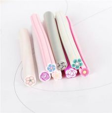 Magideal 8Pcs Rose Flower Slice Fimo Polymer Clay Cane Nail Art for Rs. 240