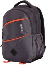 Flat 55% off on American Tourister AMT 2016 - Encarta Laptop Backpack  (Grey, Orange)