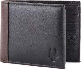 WildHorn Men Formal Black Genuine Leather Wallet  (6 Card Slots) for Rs. 500