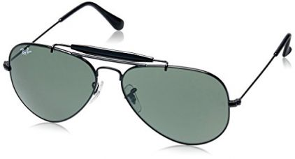 Rayban Aviator Unisex Sunglasses (0RB3129IW022858|58 millimeters|Green) for Rs. 4,227