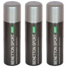 Set Of 3 Benetton Sports Ucb Man Natural Spray Deodorant 200 Ml for Rs. 550