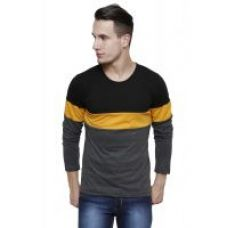 Buy Rigo Multicolor Panel Full Sleeve Round Neck Tee from ShopClues