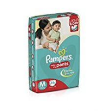 Buy Pampers Medium Size Diapers Pants (Pack of 56) from Amazon