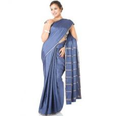 Flat 41% off on 100 Pure Mysore Traditional Silk-Grey-SSSB17-Crepe