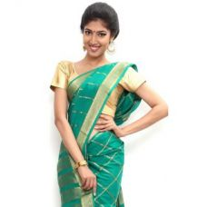 Buy Sudarshan Silks Wonderful Pure Mysore Silk Saree-Green-Sssb119-Vq-Crepe for Rs. 4,949