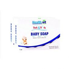Healthvit Bath and Body Baby Soap (Olive, Vitamin E and Almond Oil), 75g  (Pack of 2) for Rs. 70