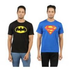 Get 65% off on Combo of Superman and Batman Tshirts