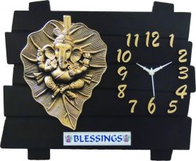 Buy Feelings Analog Wall Clock  (Black, Without Glass) from Flipkart