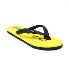 Foot n Style Yellow & Black Slippers for Rs. 299