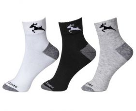 Calvin Jones Unisex Ankle Socks - Pack of 3 for Rs. 99
