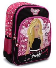 Steffi Love Super Star School Backpack Black & Pink - for Rs. 1302