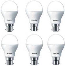 Buy Philips 9 W B22 LED Bulb  (White, Pack of 6) for Rs. 900
