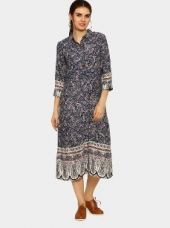 Abof Fusion Blue Liva Printed Dress for Rs. 995