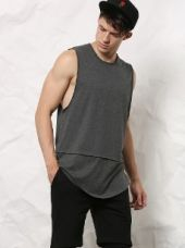 SKULT Dark Grey Melange Slim Fit Vest for Rs. 599