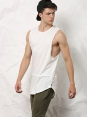 SKULT White Slim Fit Vest for Rs. 599