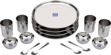 Flat 58% off on Bhalaria Pack of 16 Dinner Set  (Stainless Steel)