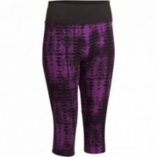 Buy Yoga+ Women's Cropped Bottoms - Purple/Black for Rs. 499