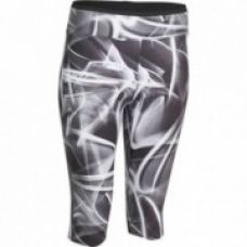 Energy Women's Fitness Print Cropped Bottoms - Black/White for Rs. 799