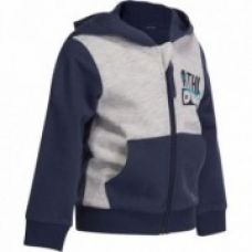 Flat 62% off on Baby Warm Zip-Up Hooded Gym Jacket - Grey Print