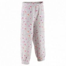 Baby girls' printed brushed jersey trousers - mottled grey for Rs. 89
