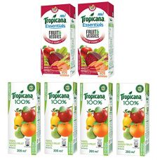 Buy Tropicana Juice, Mixed Fruit, 200ml (Pack of 4) with Essentials Fruits and Veggies, 200ml (Pack of 2) from Amazon