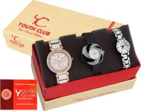 Buy Youth Club COMBO-FLWHPLTLW Best Navratri Special Girls Pair Analog Watch  - For Girls for Rs. 699