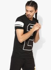 Get 35% off on Puma Athletic Number Black Round Neck T-Shirt