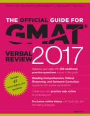 Get 19% off on The Official Guide for GMAT Verbal Review 2017 with Online Question Bank and Exclusive Video