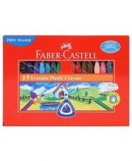 Faber Castell Erasable Plastic Crayons - 15 Pieces for Rs. 48