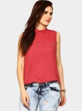 Abof Women Red Printed Regular Fit Top for Rs. 795