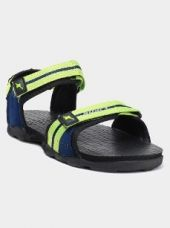Sparx Men Black & Neon Green Sports Sandals for Rs. 499