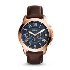 Buy Fossil FS5068 Brown Leather Strap Blue Dial Mens Chronograph Analog Watch for Rs. 6,396