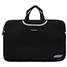 Buy AirCase 13/14 inch Designer Neoprene Protective Handle Sleeve for Laptops [Carbon Black] from Amazon