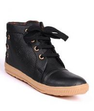 Flat 66% off on Trilokani Black Casual Shoes For Kids