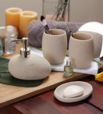 SS Silverware Cream Ceramic Bathroom Accessories - Set of 4 for Rs. 1,499