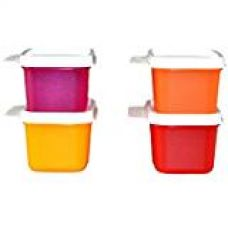 Tupperware Keep Tab Plastic Container Set, 160ml, Set of 4, Multicolour for Rs. 475