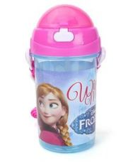 Buy Disney Frozen Push Button Water Bottle - 500 ml for Rs. 195