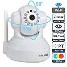 Sricam SP Series SP005 Wireless HD IP Wi-Fi CCTV Indoor Security Camera (White) for Rs. 3,040