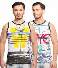 Flat 67% off on Maniac Multi Round T-Shirt Pack of 2