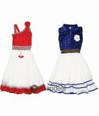 Crazeis Multicolour Frock - Combo of 2 for Rs. 599