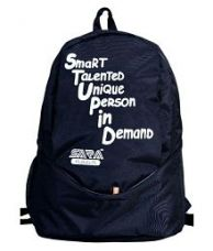 Flat 12% off on Sara Bags Unisex Black School Bag