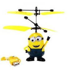 Rc Helicopter Despicable Me 2 Sensor Flying Minion Helicopter Kids Toy for Rs. 478