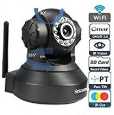 Sricam SP Series SP005 Wireless HD IP Wi-Fi CCTV Indoor Security Camera (Black) for Rs. 3,028