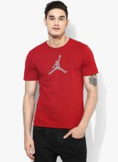 Get 40% off on Nike Jordan As Engineered For Flight Dftee Red Round Neck T-Shirt