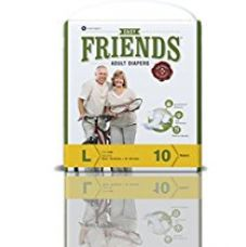 Buy Friends Adult Diaper (Basic) – Large (10 Count) from Amazon